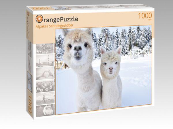 """Puzzle Motiv """"Alpakas Schneegestöber"""" - Puzzle-Schachtel zu 1000 Teile Puzzle"""