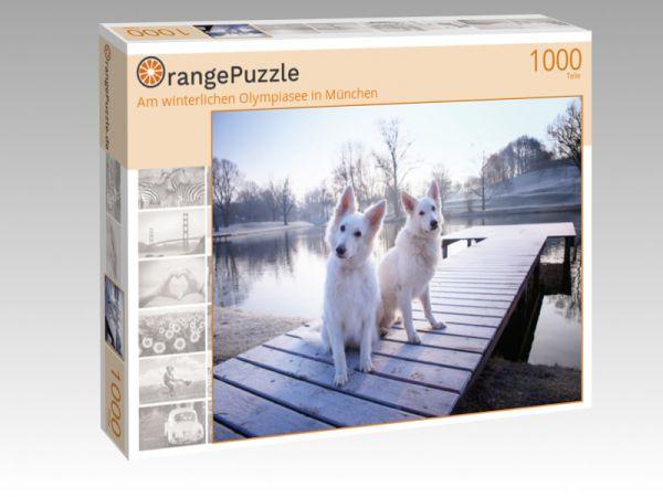 """Puzzle Motiv """"Am winterlichen Olympiasee in München"""" - Puzzle-Schachtel zu 1000 Teile Puzzle"""