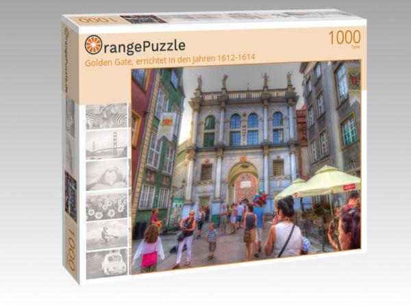 """Puzzle Motiv """"Golden Gate, errichtet in den Jahren 1612-1614"""" - Puzzle-Schachtel zu 1000 Teile Puzzle"""