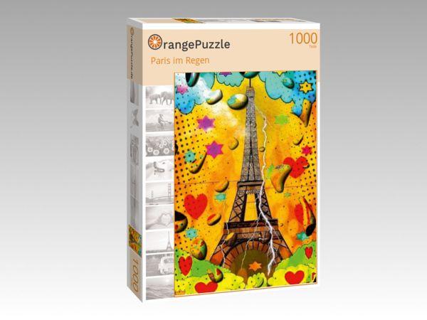 """Puzzle Motiv """"Paris im Regen"""" - Puzzle-Schachtel zu 1000 Teile Puzzle"""