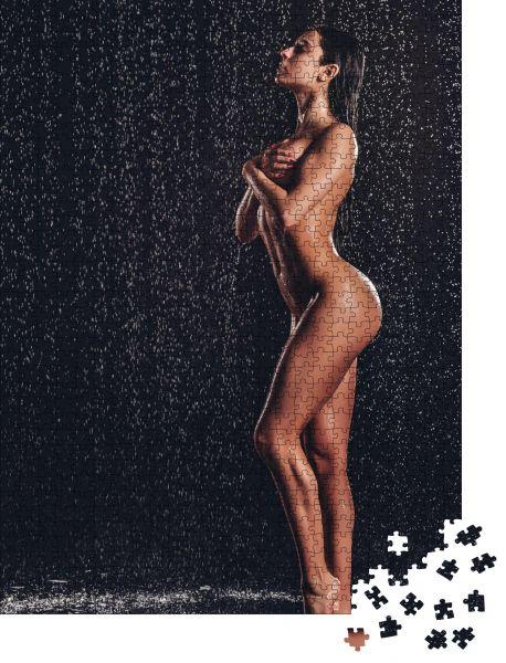 """Puzzle-Motiv """"Vollständiges Bild einer sexy Frau unter der Dusche"""" - Puzzle-Schachtel zu 1000 Teile Puzzle"""