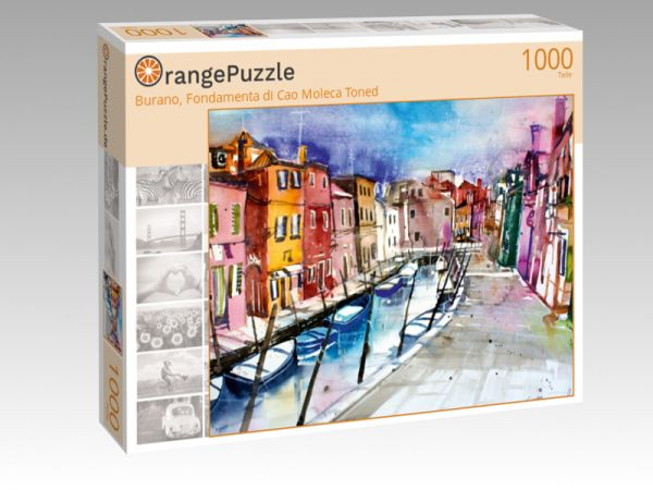 "Puzzle Motiv ""Burano, Fondamenta di Cao Moleca Toned"" - Puzzle-Schachtel zu 1000 Teile Puzzle"