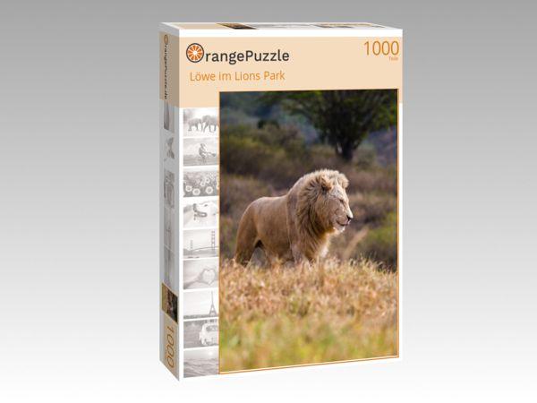 """Puzzle Motiv """"Löwe im Lions Park"""" - Puzzle-Schachtel zu 1000 Teile Puzzle"""