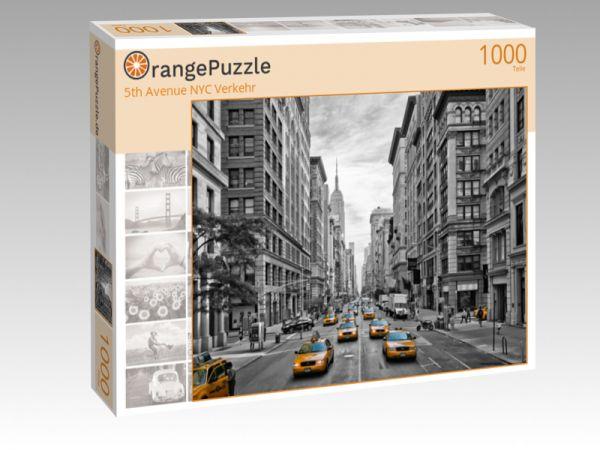 """Puzzle Motiv """"5th Avenue NYC Verkehr"""" - Puzzle-Schachtel zu 1000 Teile Puzzle"""
