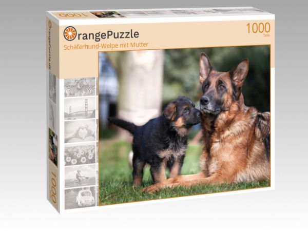 """Puzzle Motiv """"Schäferhund-Welpe mit Mutter"""" - Puzzle-Schachtel zu 1000 Teile Puzzle"""