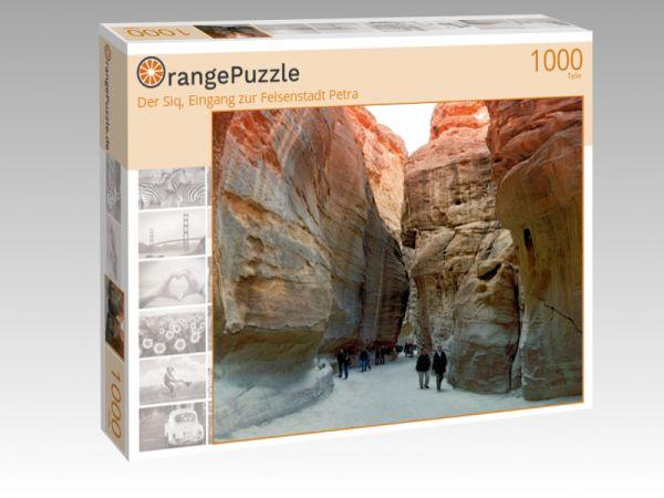 """Puzzle Motiv """"Der Siq, Eingang zur Felsenstadt Petra"""" - Puzzle-Schachtel zu 1000 Teile Puzzle"""