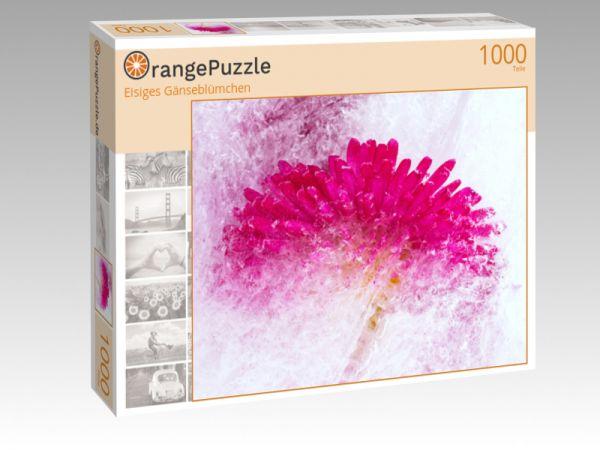 "Puzzle Motiv ""Eisiges Gänseblümchen"" - Puzzle-Schachtel zu 1000 Teile Puzzle"