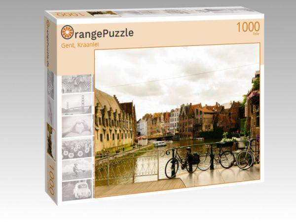 """Puzzle Motiv """"Gent, Kraanlei"""" - Puzzle-Schachtel zu 1000 Teile Puzzle"""