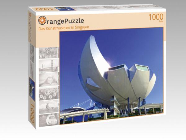 """Puzzle Motiv """"Das Kunstmuseum in Singapur"""" - Puzzle-Schachtel zu 1000 Teile Puzzle"""