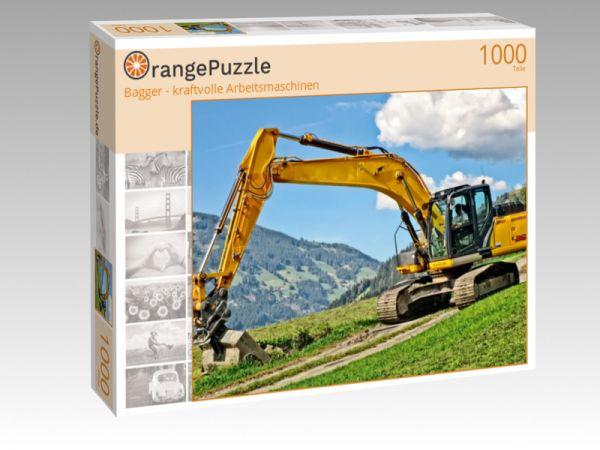 """Puzzle Motiv """"Bagger - kraftvolle Arbeitsmaschinen"""" - Puzzle-Schachtel zu 1000 Teile Puzzle"""