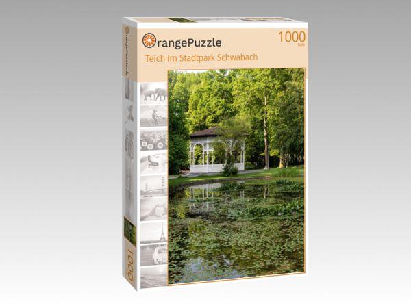 "Puzzle Motiv ""Teich im Stadtpark Schwabach"" - Puzzle-Schachtel zu 1000 Teile Puzzle"