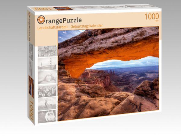 """Puzzle Motiv """"Landschaftsfarben - Geburtstagskalender"""" - Puzzle-Schachtel zu 1000 Teile Puzzle"""