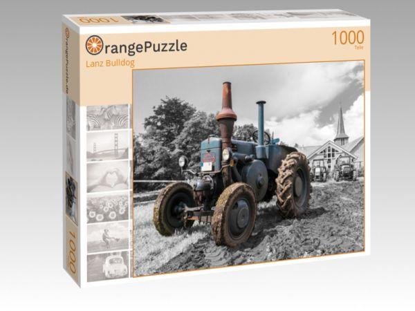 """Puzzle Motiv """"Lanz Bulldog"""" - Puzzle-Schachtel zu 1000 Teile Puzzle"""