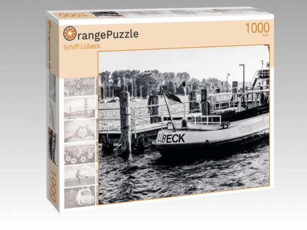 """Puzzle Motiv """"Schiff Lübeck"""" - Puzzle-Schachtel zu 1000 Teile Puzzle"""