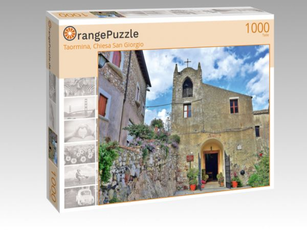 "Puzzle Motiv ""Taormina, Chiesa San Giorgio"" - Puzzle-Schachtel zu 1000 Teile Puzzle"