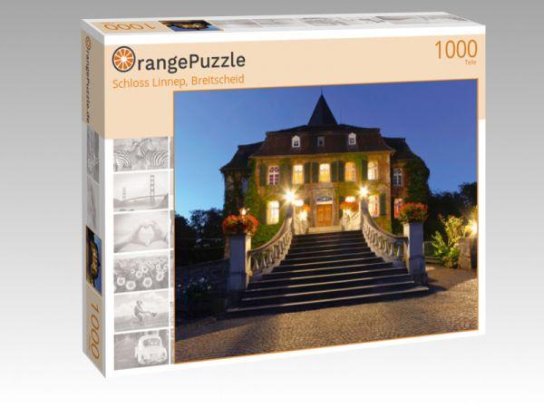 """Puzzle Motiv """"Schloss Linnep, Breitscheid"""" - Puzzle-Schachtel zu 1000 Teile Puzzle"""
