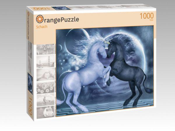 """Puzzle Motiv """"Schach"""" - Puzzle-Schachtel zu 1000 Teile Puzzle"""