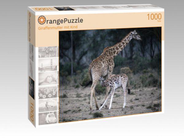 """Puzzle Motiv """"Giraffenmutter mit Kind"""" - Puzzle-Schachtel zu 1000 Teile Puzzle"""