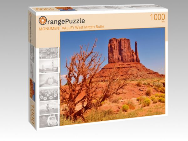 "Puzzle Motiv ""MONUMENT VALLEY West Mitten Butte"" - Puzzle-Schachtel zu 1000 Teile Puzzle"