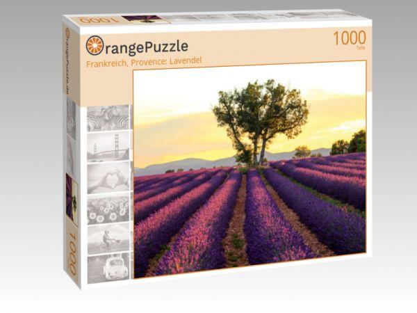 """Puzzle Motiv """"Frankreich, Provence: Lavendel"""" - Puzzle-Schachtel zu 1000 Teile Puzzle"""