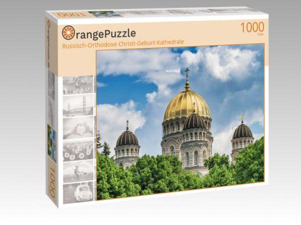 """Puzzle Motiv """"Russisch-Orthodoxe Christi-Geburt-Kathedrale"""" - Puzzle-Schachtel zu 1000 Teile Puzzle"""