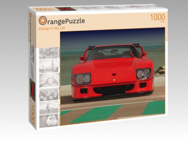 """Puzzle Motiv """"Ferrari F 40 LM"""" - Puzzle-Schachtel zu 1000 Teile Puzzle"""