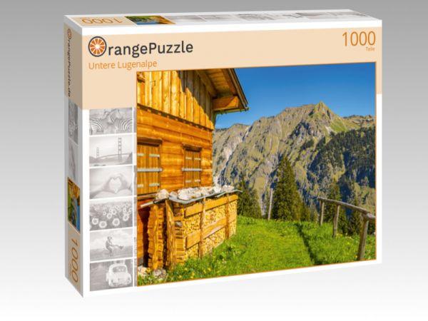 """Puzzle Motiv """"Untere Lugenalpe"""" - Puzzle-Schachtel zu 1000 Teile Puzzle"""