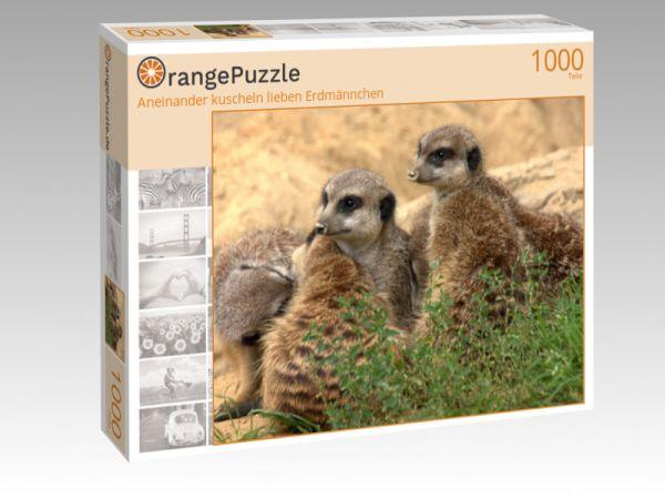 """Puzzle Motiv """"Aneinander kuscheln lieben Erdmännchen"""" - Puzzle-Schachtel zu 1000 Teile Puzzle"""