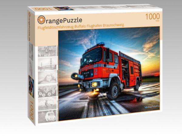 """Puzzle Motiv """"Flugfeldlöschfahrzeug Buffalo Flughafen Braunschweig"""" - Puzzle-Schachtel zu 1000 Teile Puzzle"""