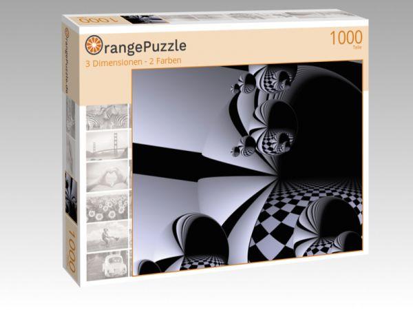 """Puzzle Motiv """"3 Dimensionen - 2 Farben"""" - Puzzle-Schachtel zu 1000 Teile Puzzle"""