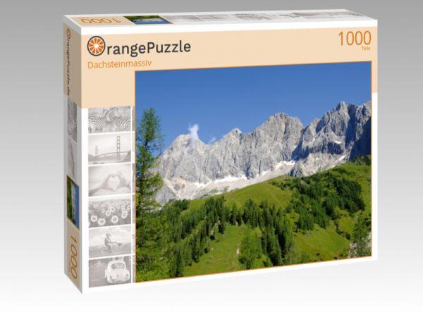 """Puzzle Motiv """"Dachsteinmassiv"""" - Puzzle-Schachtel zu 1000 Teile Puzzle"""