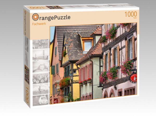 """Puzzle Motiv """"Fachwerk"""" - Puzzle-Schachtel zu 1000 Teile Puzzle"""