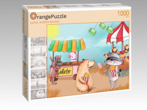 """Puzzle Motiv """"Juchu, endlich Kirmes!"""" - Puzzle-Schachtel zu 1000 Teile Puzzle"""