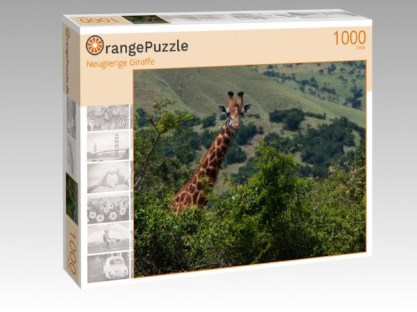 """Puzzle Motiv """"Neugierige Giraffe"""" - Puzzle-Schachtel zu 1000 Teile Puzzle"""