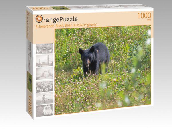"""Puzzle Motiv """"Schwarzbär, Black Bear, Alaska-Highway"""" - Puzzle-Schachtel zu 1000 Teile Puzzle"""