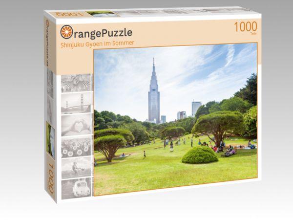 """Puzzle Motiv """"Shinjuku Gyoen im Sommer"""" - Puzzle-Schachtel zu 1000 Teile Puzzle"""