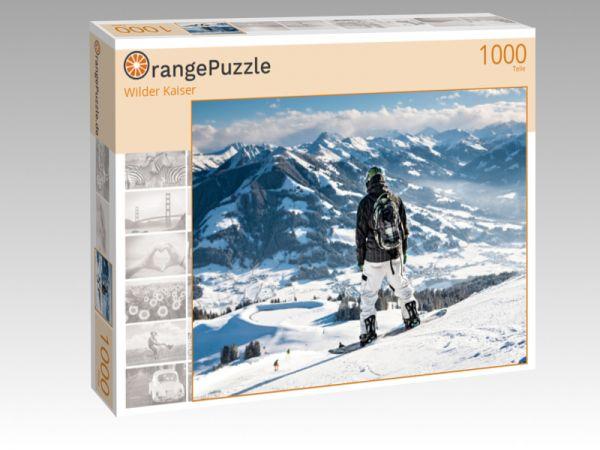 """Puzzle Motiv """"Wilder Kaiser"""" - Puzzle-Schachtel zu 1000 Teile Puzzle"""