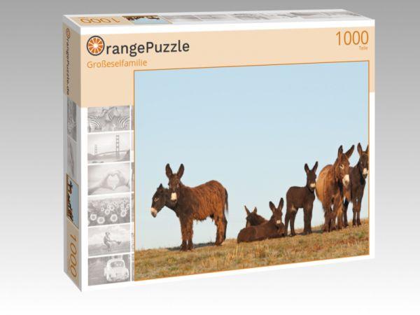 """Puzzle Motiv """"Großeselfamilie"""" - Puzzle-Schachtel zu 1000 Teile Puzzle"""