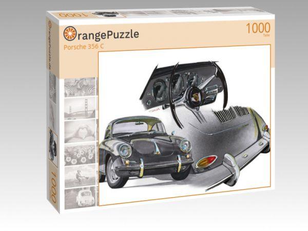"""Puzzle Motiv """"Porsche 356 C"""" - Puzzle-Schachtel zu 1000 Teile Puzzle"""