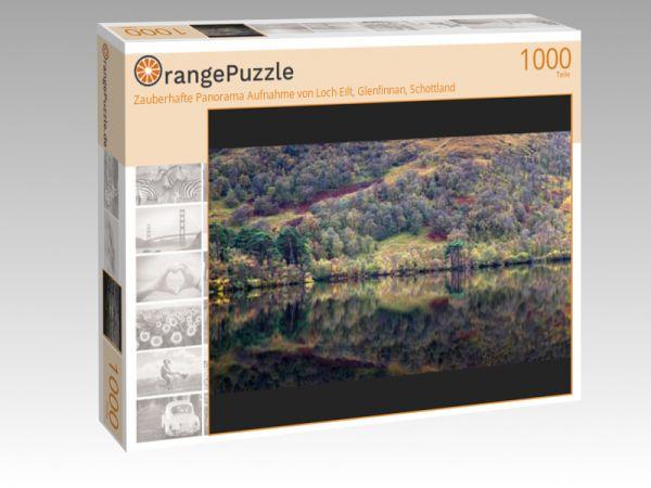 """Puzzle Motiv """"Zauberhafte Panorama Aufnahme von Loch Eilt, Glenfinnan, Schottland"""" - Puzzle-Schachtel zu 1000 Teile Puzzle"""