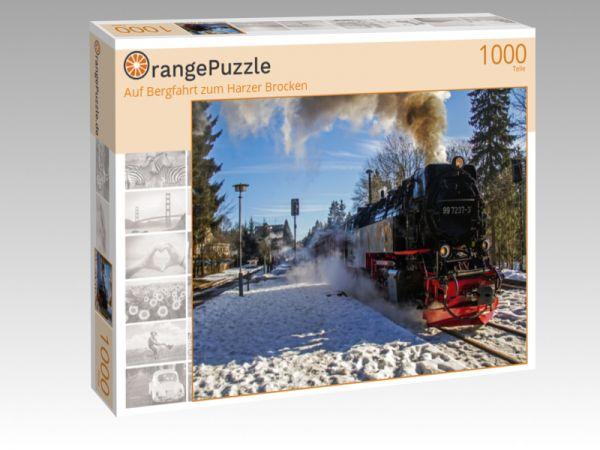"""Puzzle Motiv """"Auf Bergfahrt zum Harzer Brocken"""" - Puzzle-Schachtel zu 1000 Teile Puzzle"""
