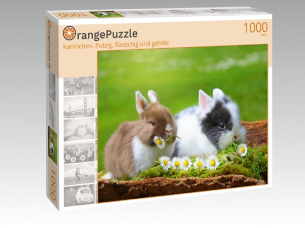 """Puzzle Motiv """"Kaninchen. Putzig, flauschig und geliebt"""" - Puzzle-Schachtel zu 1000 Teile Puzzle"""