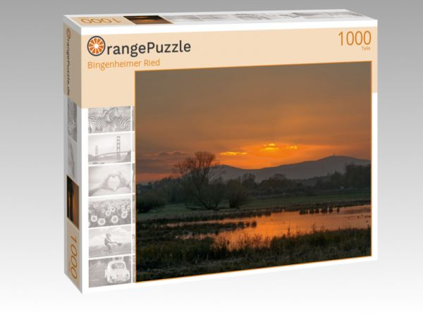 "Puzzle Motiv ""Bingenheimer Ried"" - Puzzle-Schachtel zu 1000 Teile Puzzle"