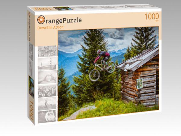"""Puzzle Motiv """"Downhill Action"""" - Puzzle-Schachtel zu 1000 Teile Puzzle"""
