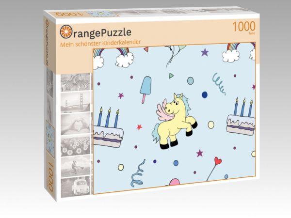 """Puzzle Motiv """"Mein schönster Kinderkalender"""" - Puzzle-Schachtel zu 1000 Teile Puzzle"""