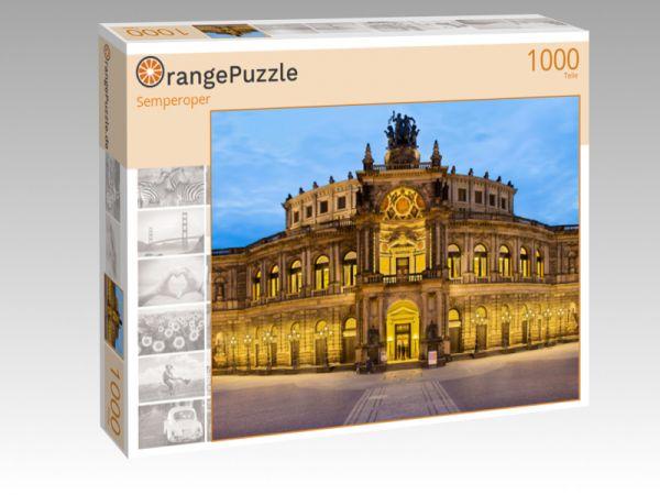 """Puzzle Motiv """"Semperoper"""" - Puzzle-Schachtel zu 1000 Teile Puzzle"""