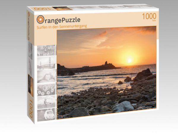 """Puzzle Motiv """"Surfen in den Sonnenuntergang"""" - Puzzle-Schachtel zu 1000 Teile Puzzle"""