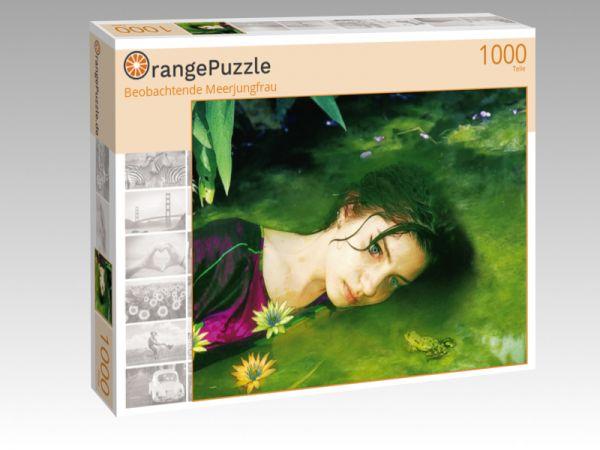 """Puzzle Motiv """"Beobachtende Meerjungfrau"""" - Puzzle-Schachtel zu 1000 Teile Puzzle"""