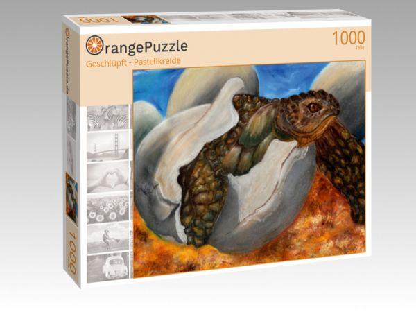 """Puzzle Motiv """"Geschlüpft - Pastellkreide"""" - Puzzle-Schachtel zu 1000 Teile Puzzle"""