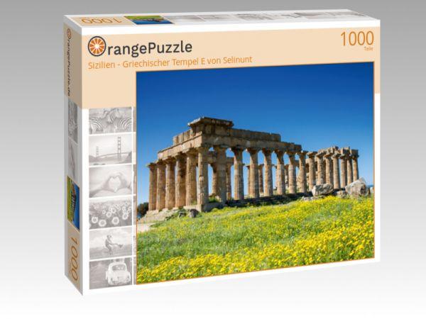 """Puzzle Motiv """"Sizilien - Griechischer Tempel E von Selinunt"""" - Puzzle-Schachtel zu 1000 Teile Puzzle"""